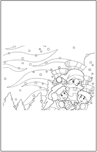 CHRISTMAS COLOURING : Christmas santa and kids winter background | Baby Hints & Tips
