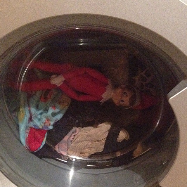 Quick SImple Elf On The Shelf Ideas - Throw Him In THe Dryer