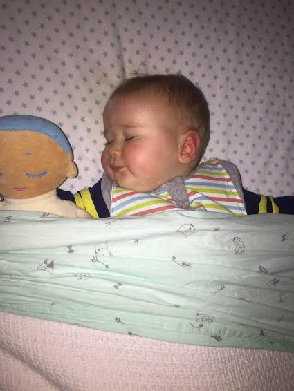 Lulla doll review. Kristin and her 8 month old son review the Lulla Doll to help a non-sleeper discover that sleep isn't such a bad thing