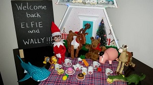 best elf on the shelf ideas - A welcome morning tea for your Elf on the shelf