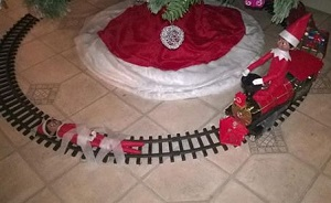 elf tied his sister to the train tracks