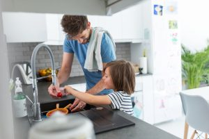 cleaning with your children