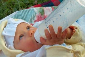 Newborn Drinking Milk