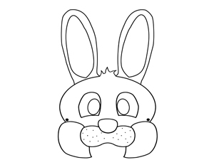 kids easter bunny mask template craft