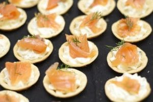 smoked salmon tartlet