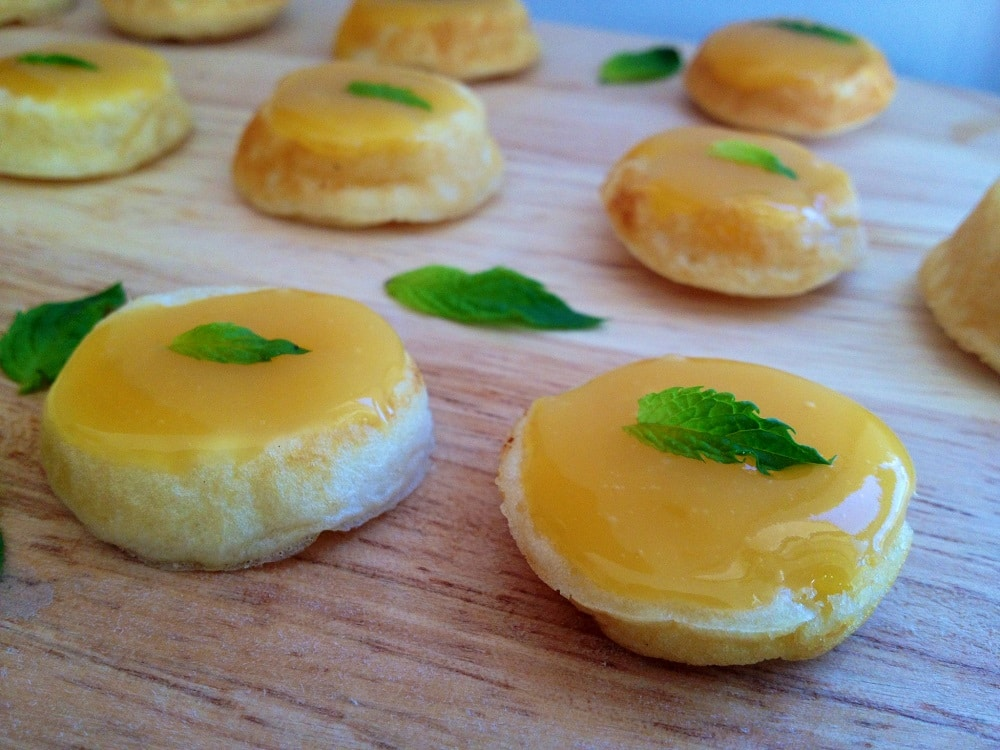 Passionfruit Curd Blini Cakes recipe