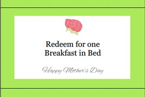 Free printable mother's day coupons