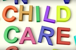 Child Care Written In Kids Letters