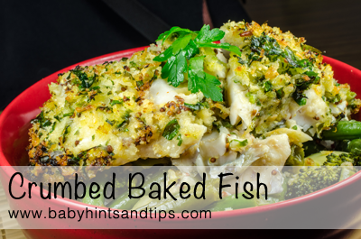 Crumbed baked fish | Baby Hints & Tips