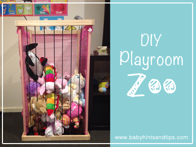 Kids DIY Playroom Storage Ideas For Toy Animals {Craft}