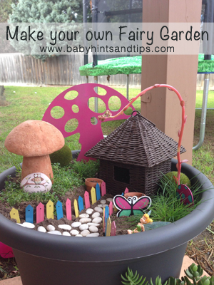 Make Your Own Fairy Garden in a Pot Craft