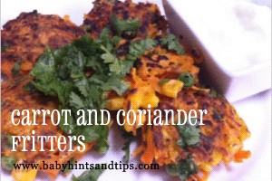 carrot-and-coriander-fritters