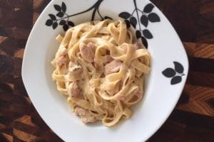 easy creamy chicken carbonara