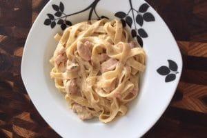 easy creamy chicken carbonara