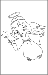 COLOURING : Christmas-angel