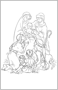 COLOURING : Christmas-nativity