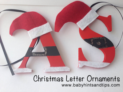 Christmas letter ornaments