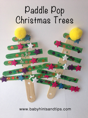 Paddle Pop Christmas Tree Christmas Craft For Toddlers