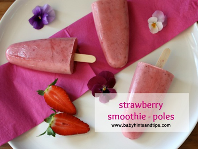 Strawberry homemade icy pole recipe