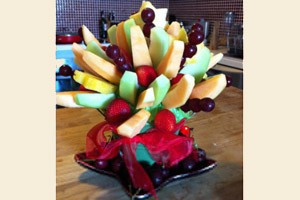Christmas Fruit Centrepiece