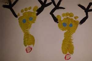 reindeer feet craft