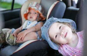 carseat, car trips, 3 children