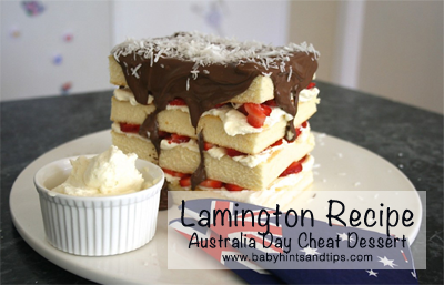 Lamington Recipe | Baby Hints & Tips