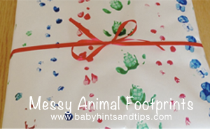 Messy animal footprints thumb