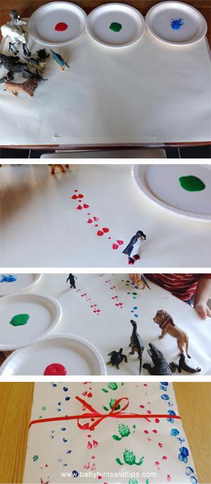 Toddler Craft Animal Footprints process   Baby Hints & Tips