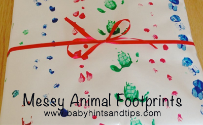 Toddler Craft Animal Footprints | Baby Hints & Tips
