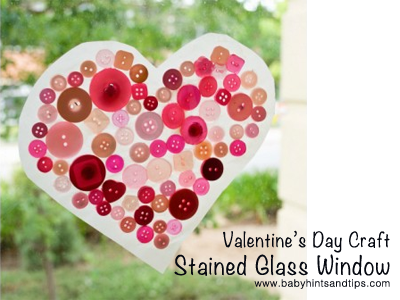 Valentine's Day Craft Stained Glass Window | Baby Hints & Tips