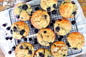 blueberry quinoa lemon muffins