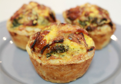 cheese and bacon mini quiche