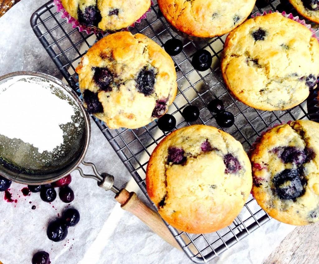 bluberry quinoa lemon gluten free muffins