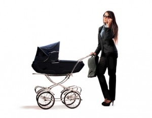 Modern mother working mother