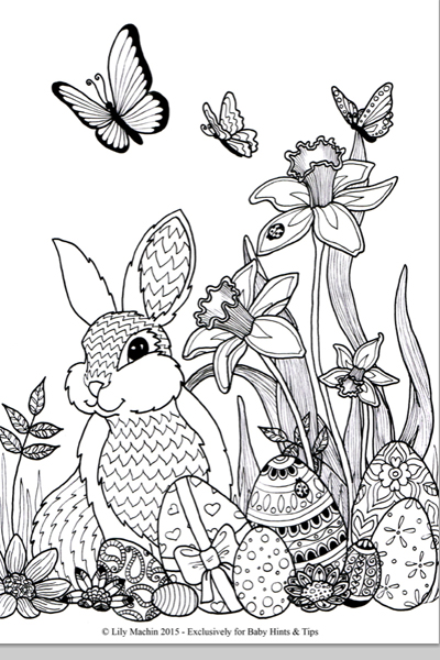 Printable Easter Colouring Pages And Card
