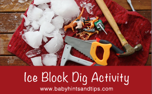 ice block dig activity