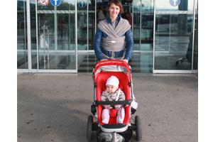 pram at airport