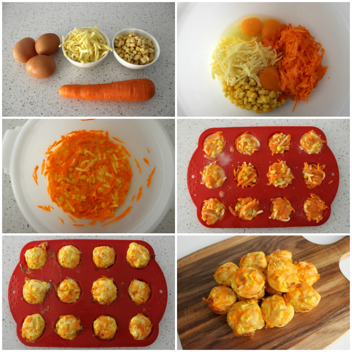 Tripe C Muffins - corn carrot and cheese
