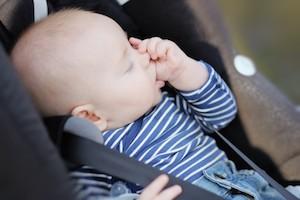 Discouraging thumb sucking baby