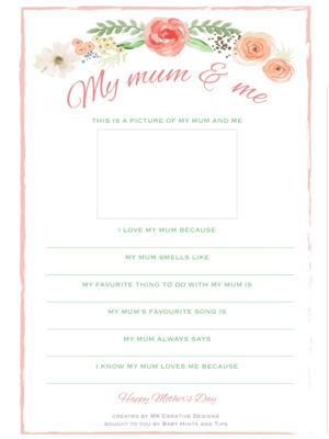 Free Mother's Day Questionnaire