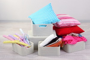 storing baby clothes for the next baby