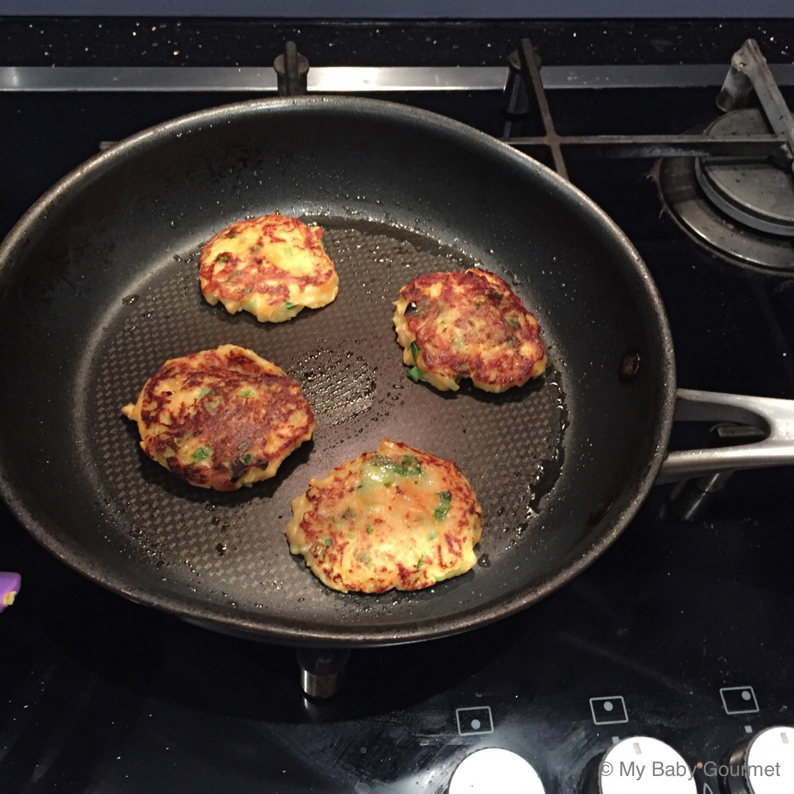 Salmon fritters for easter