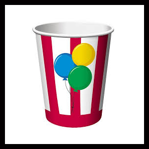 carnival themed cups
