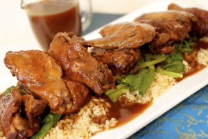 Orange and Spice Slowcooker Chicken Wings