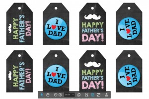 Father's Day Gift Tags Free Printable