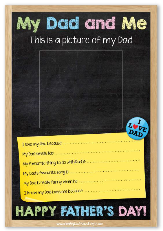 Father's Day Poster Free Printable