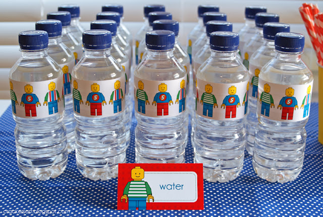 lego water bottle labels