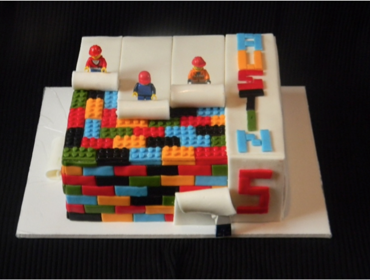 lego cake for the best Lego party