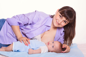 breastfeeding from one breast